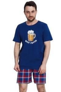 vienetta-panske-pyzamo-tmave-modre-karo-pivo